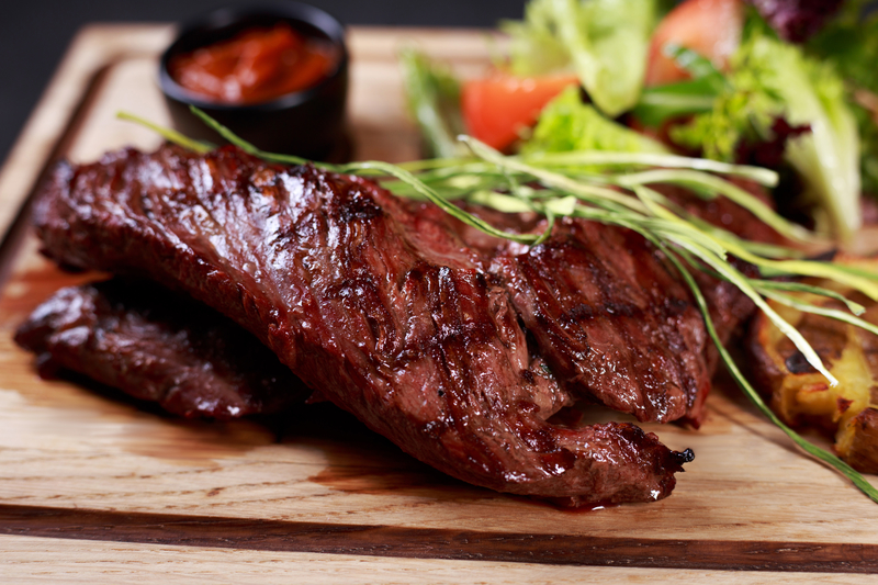 skirt steak, grill and barbeque restaurant menu