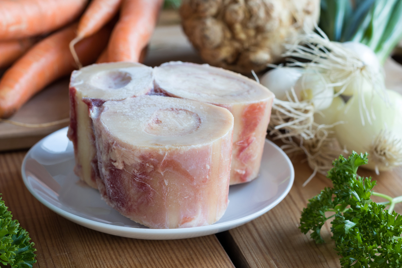 Ingredients for preparing a beef bone broth