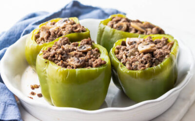GRASS-FED BEEF STUFFED ITALIAN PEPPERS
