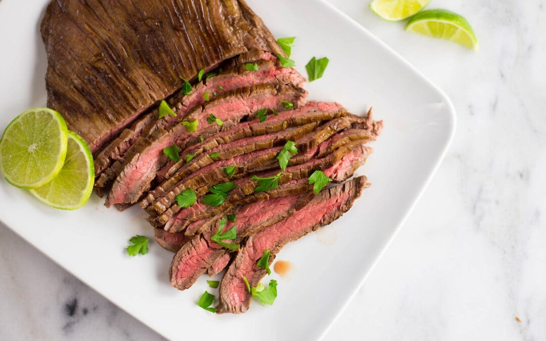 GRILLED THAI COCONUT-LIME GRASS-FED SKIRT STEAK
