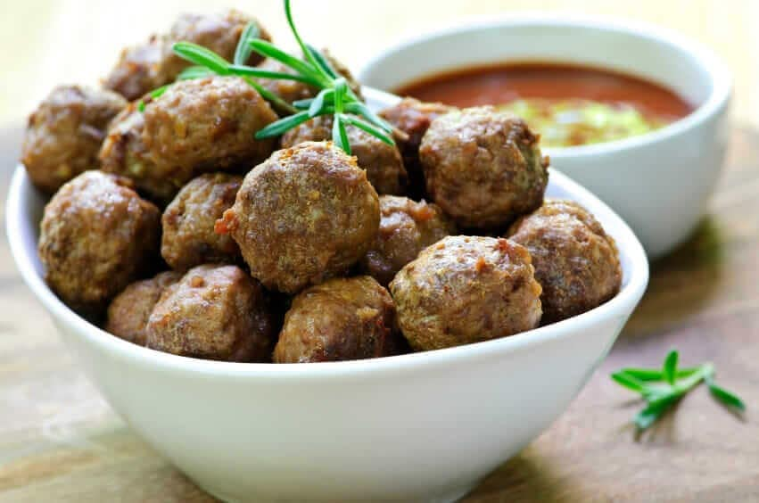 WILD MUSHROOM AND GRASS-FED BEEF MEATBALLS